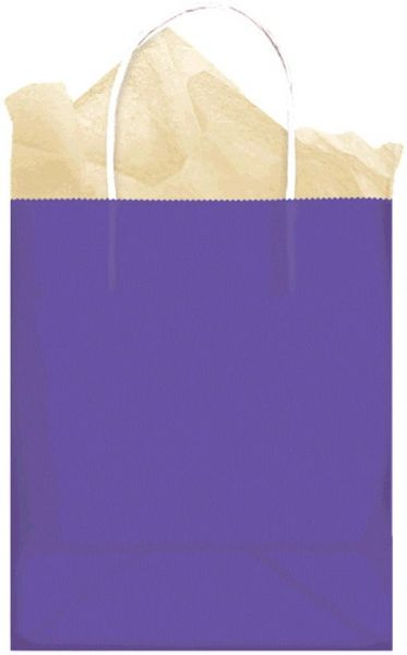 Large New Purple Kraft Gift Bag