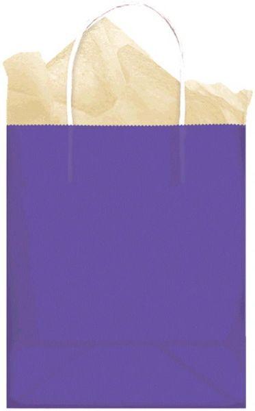 Large New Purple Kraft Gift Bag