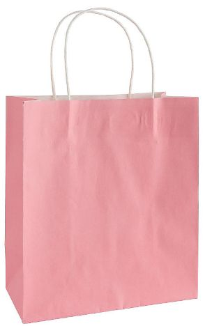 Large New Pink Kraft Gift Bag