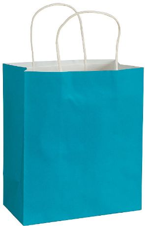 Large Caribbean Blue Kraft Bag