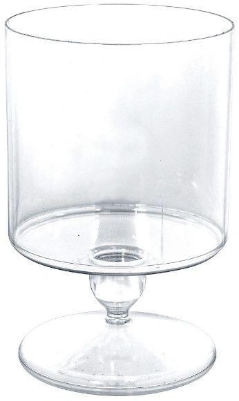 Medium Cylinder Plastic Jar - Clear, 48oz