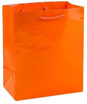 Orange Glossy Gift Bag