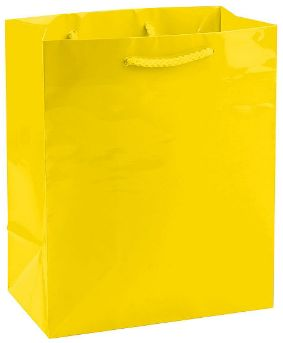 Solid Glossy Yellow Sunshine Medium Bag