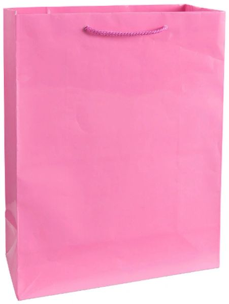 Solid Glossy Bright Pink Extra Large Bag