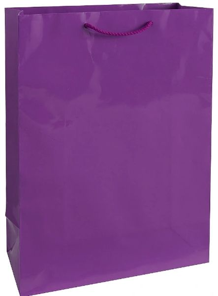 New Purple Jumbo Glossy Bag