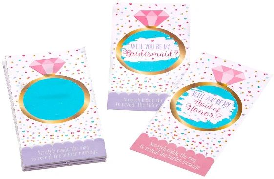 """""""Will You Be My Bridesmaid?"""" Scratch Off Cards, 12ct"""