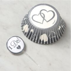 """I Do!"" Wedding Baking Cups & Picks, 24ct"