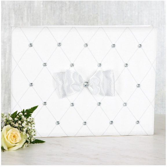 White Wedding Guest Book Set, 3pc