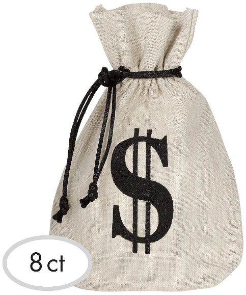 Western Fabric Favor Bags, 8ct