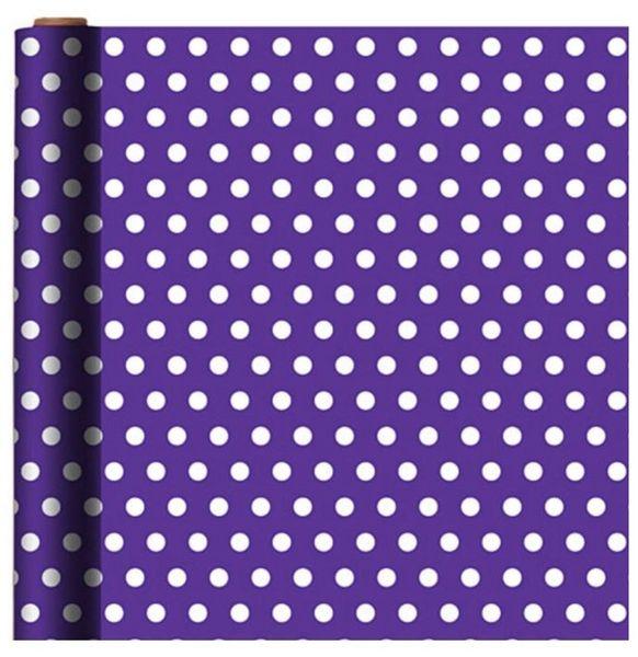 Jumbo Purple Polka Dot Gift Wrap, 16ft