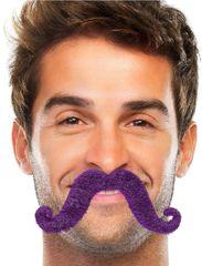 Purple Handlebar Moustache