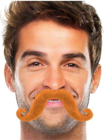 Orange Handlebar Moustache