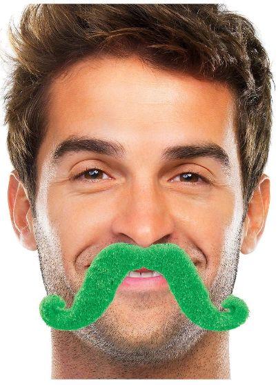 Green Handlebar Moustache