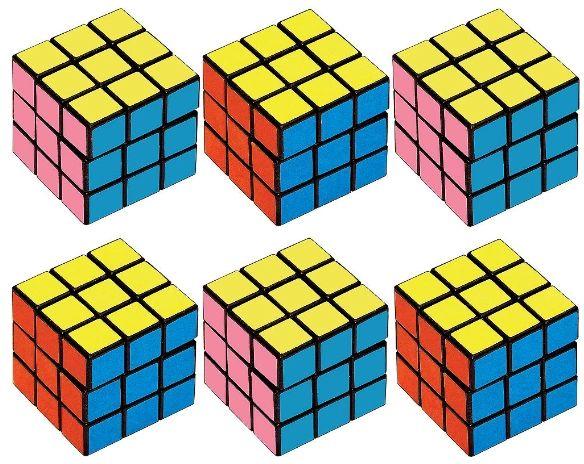 Puzzle Cubes, 6ct