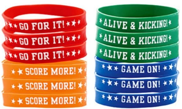 Soccer Wristbands, 12ct