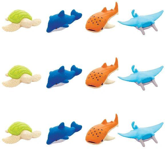 Sea Animal Erasers, 12ct