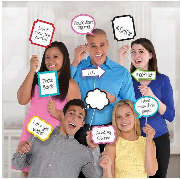 Colorful Signs Photo Booth Props, 13ct