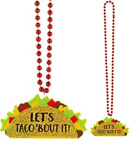 Taco Glitter Bead Necklace