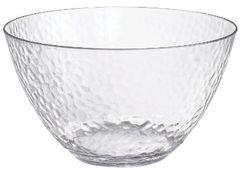 CLEAR Premium Plastic Hammered Serving Bowl