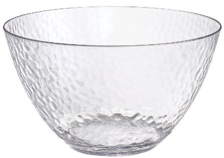 Hammered Clear Large Bowl