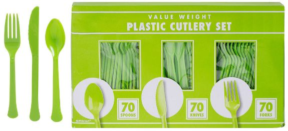 Big Party Pack Kiwi Window Box Cutlery Set, 210ct