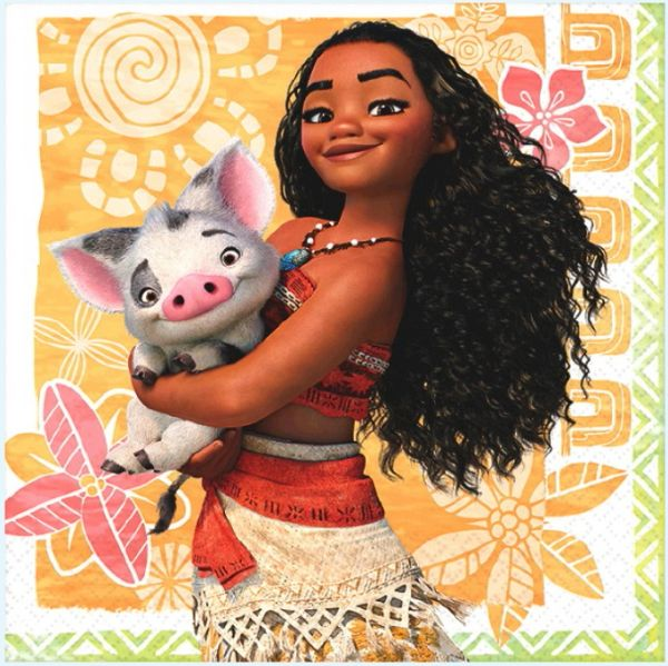 ©Disney Moana Beverage Napkins, 16ct