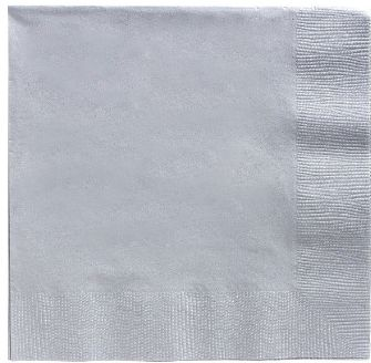Big Party Pack Silver Beverage Napkins, 125ct