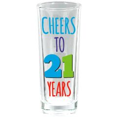 21st Brilliant Birthday Glass Shot Glass