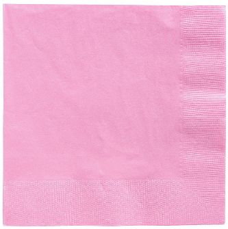 Big Party Pack New Pink Beverage Napkins, 125ct