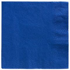 Big Party Pack Bright Royal Blue Beverage Napkins, 125ct