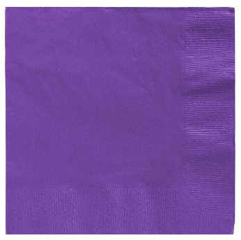 Big Party Pack New Purple Beverage Napkins, 125ct