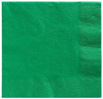 Big Party Pack Festive Green Beverage Napkins, 125ct