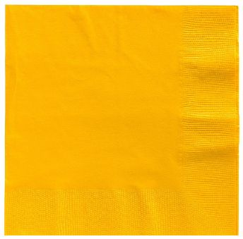 Big Party Pack Yellow Sunshine Beverage Napkins, 125ct