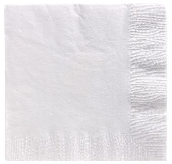 Big Party Pack White Beverage Napkins, 125ct