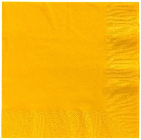 Big Party Pack Yellow Sunshine Luncheon Napkins, 125ct