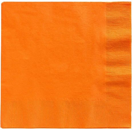 Big Party Pack Orange Luncheon Napkins, 125ct