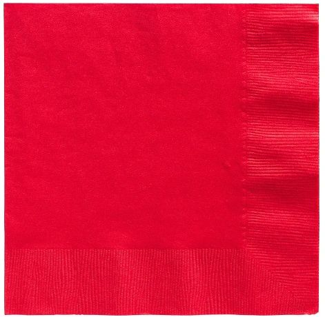 Big Party Pack Red Luncheon Napkins, 125ct