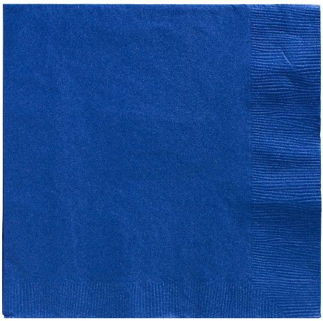 Big Party Pack Bright Royal Blue Luncheon Napkins, 125ct