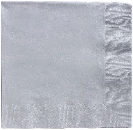 Big Party Pack Silver Luncheon Napkins, 125ct