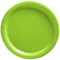 "Big Party Pack Kiwi Green Dessert Paper Plates, 7"" - 50ct"