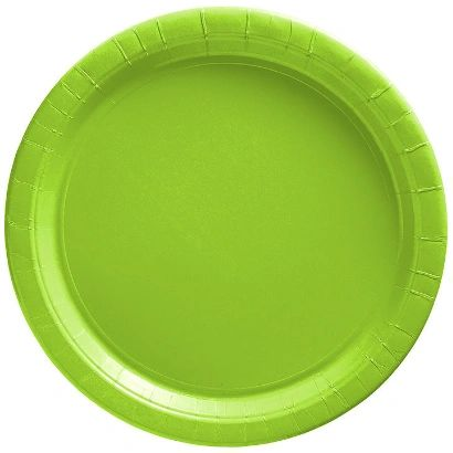 "Big Party Pack Kiwi Green Dessert Paper Plates, 7"" - 50ct"
