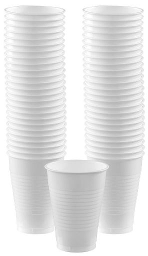 Big Party Pack White Plastic Cups, 12 oz - 50ct