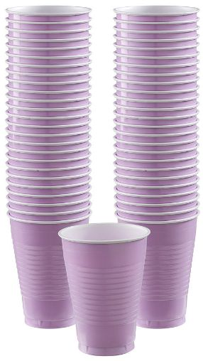 Big Party Pack Lavender Plastic Cups, 12oz - 50ct