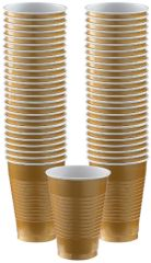Big Party Pack Gold Plastic Cups, 12oz - 50ct