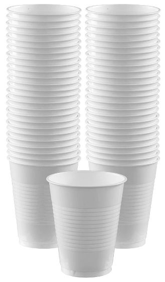 Big Party Pack White Plastic Cups, 16 oz - 50ct