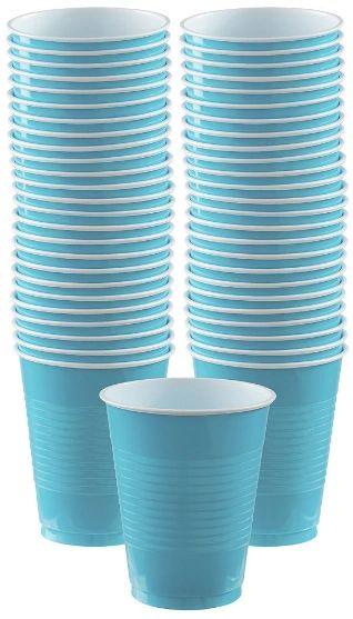 Big Party Pack Caribbean Blue Plastic Cups, 16 oz - 50ct