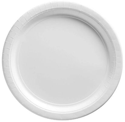 "Big Party Pack White Paper Dessert Plates, 7"" - 50ct"
