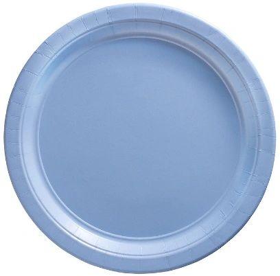 """Big Party Pack Pastel Blue Dessert Paper Plates, 7"""" - 50ct"""