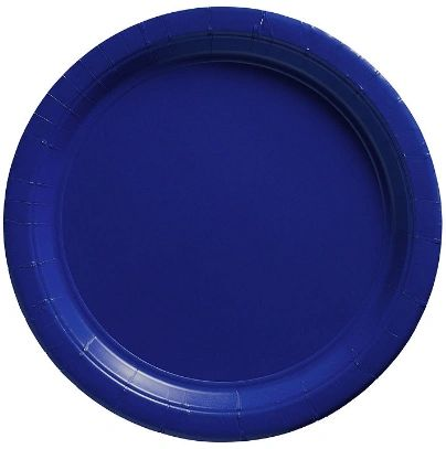 "Big Party Pack Bright Royal Blue Dessert Paper Plates, 7"" - 50ct"