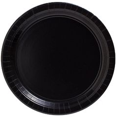 "Big Party Pack Black Dessert Paper Plates, 7"" - 50ct"